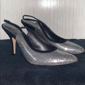 Martinez Valero Billie Gun Metal Sequin Heels